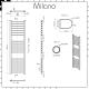Milano Eco Electric - Flat Chrome Heated Towel Rail 1400mm x 500mm