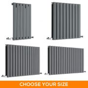 Milano Alpha - Anthracite Horizontal Designer Radiator - Various Sizes
