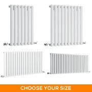 Milano Aruba - White Horizontal Designer Radiator - Various Sizes