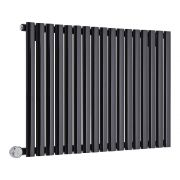 Milano Aruba Electric - Black Horizontal Designer Radiator 635mm x 1000mm