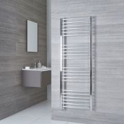 Milano Eco Electric - Curved Chrome Heated Towel Rail 1600mm x 600mm