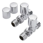 Milano - Chrome Straight Radiator Valves (Pair)