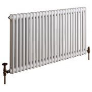 Milano Windsor - Horizontal Double Column White Traditional Cast Iron Style Radiator - 600mm x 1190mm