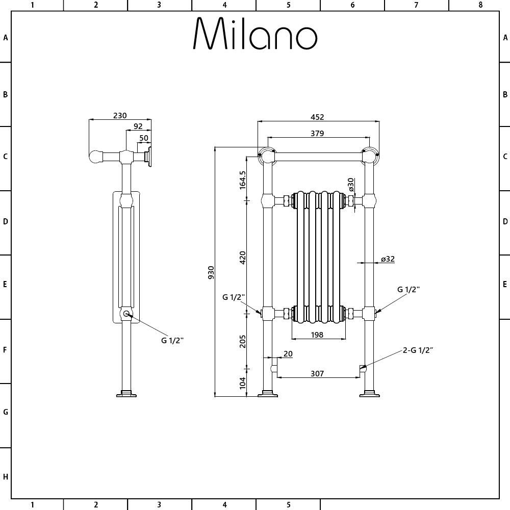 Milano Trent White Traditional Electric Heated Towel