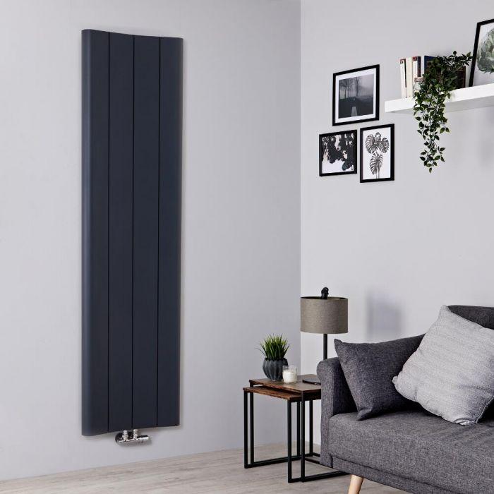 Milano Solis - Anthracite Vertical Aluminium Designer Radiator 1800mm x 495mm