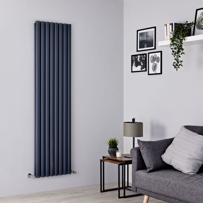 Milano Aruba Ayre - Aluminium Anthracite Vertical Designer Radiator 1800mm x 470mm (Double Panel)