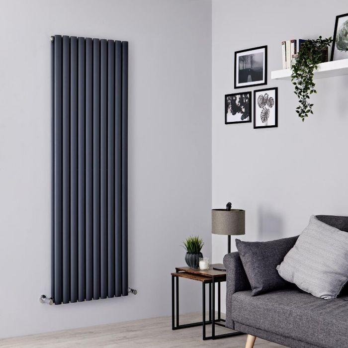 Milano Aruba Ayre - Aluminium Anthracite Vertical Designer Radiator 1800mm x 590mm (Double Panel)