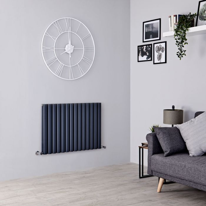 Milano Aruba Ayre - Aluminium Anthracite Horizontal Designer Radiator 600mm x 830mm (Double Panel)