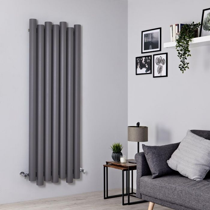 Milano Motus - Light Grey Vertical Aluminium Designer Radiator 1600mm x 550mm