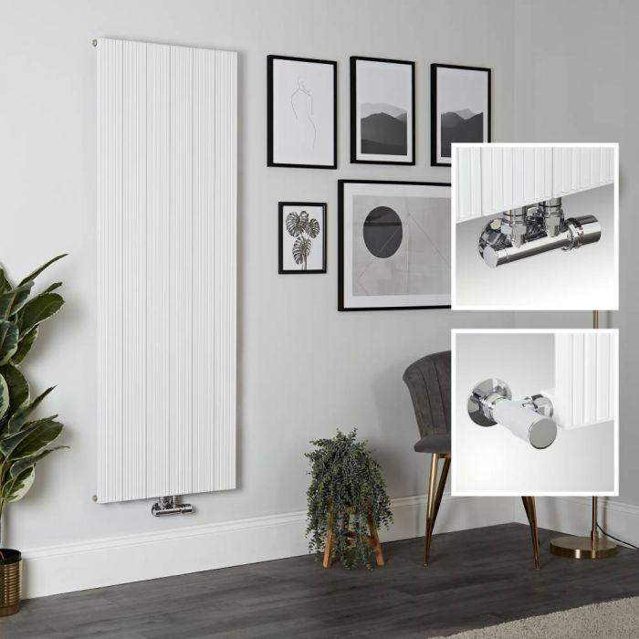 Milano Lex - White Vertical Aluminium Designer Radiator 1600mm x 565mm