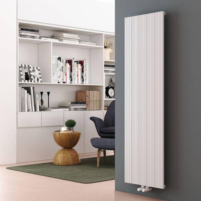 Milano Lex - White Vertical Aluminium Designer Radiator 1600mm x 470mm