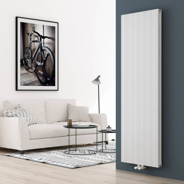 Milano Lex - White Vertical Aluminium Designer Radiator 1800mm x 565mm (Double Panel)