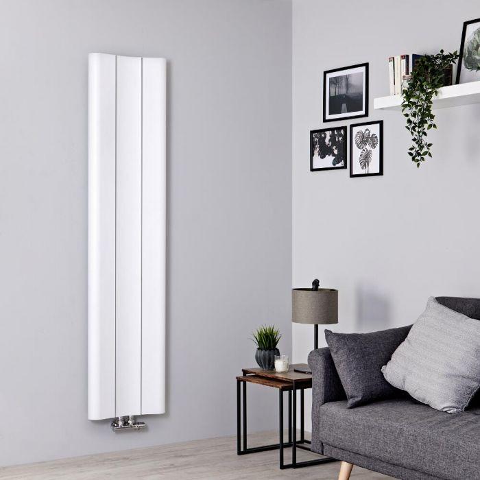 Milano Solis - White Vertical Aluminium Designer Radiator 1600mm x 370mm