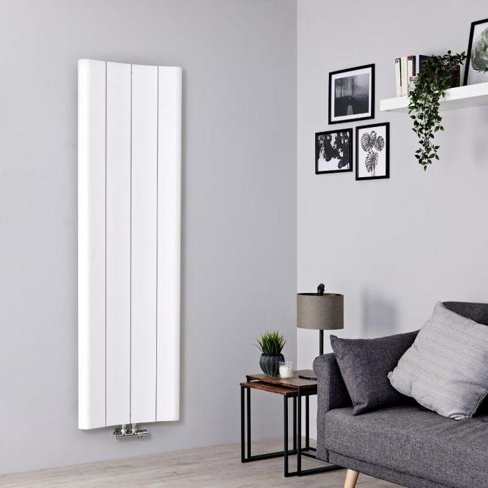 Milano Solis - White Vertical Aluminium Designer Radiator 1600mm x 495mm