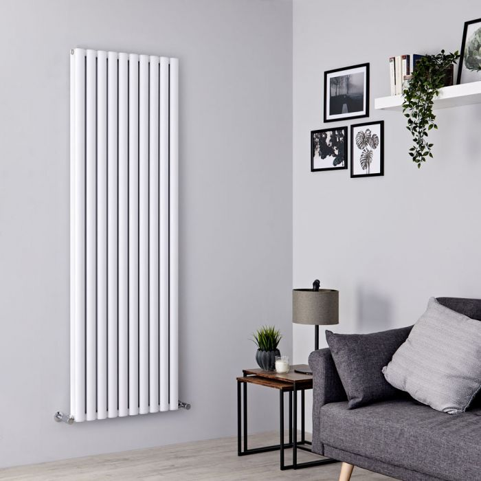 Milano Aruba Ayre - Aluminium White Vertical Designer Radiator 1800mm x 590mm (Double Panel)