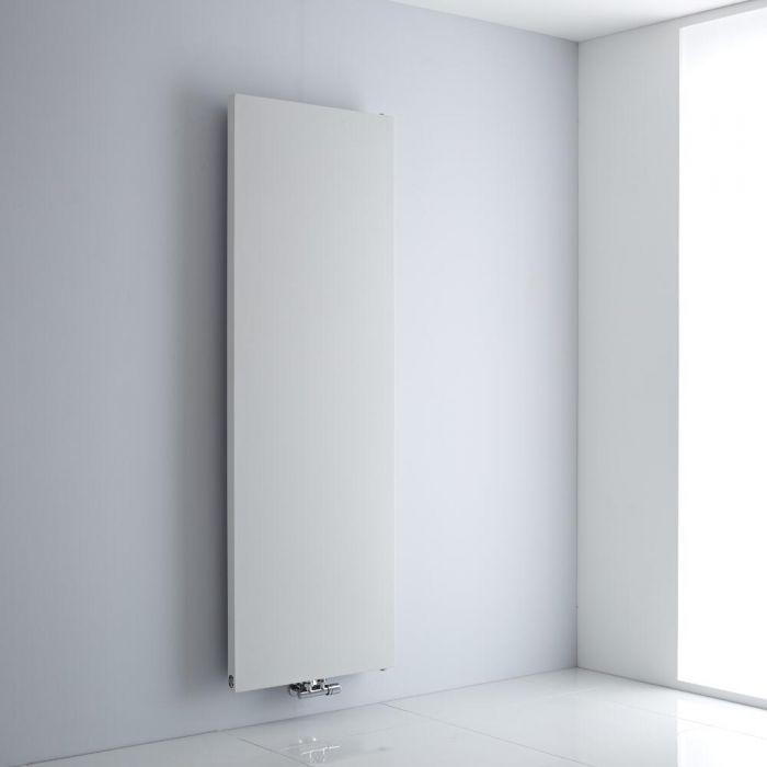 Milano Riso - White Flat Panel Vertical Designer Radiator 1800mm x 600mm