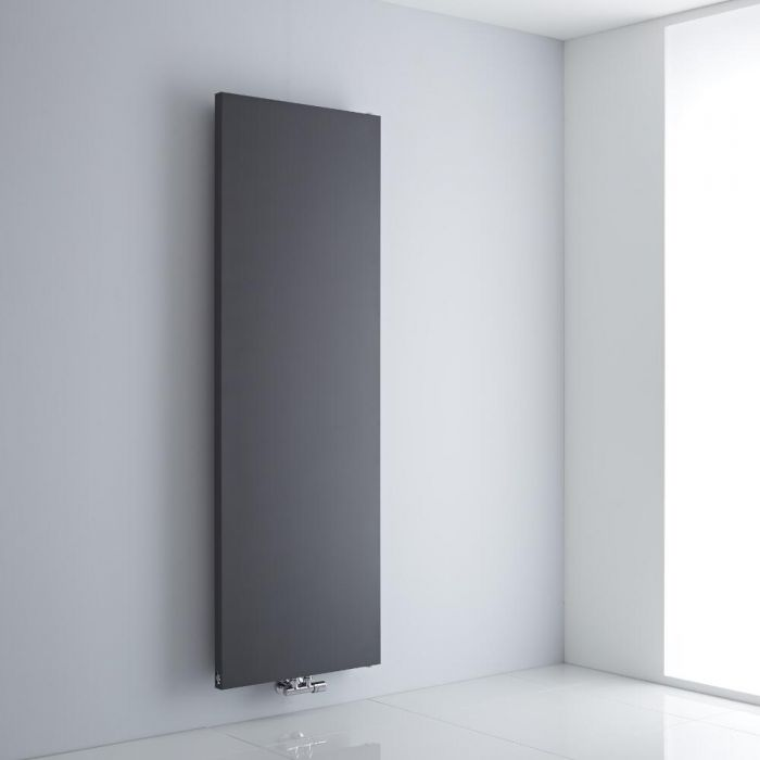 Milano Riso - Anthracite Flat Panel Vertical Designer Radiator 1800mm x 600mm
