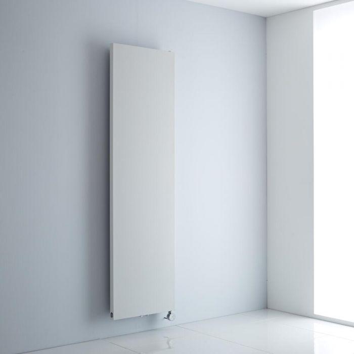 Milano Riso Electric - White Flat Panel Vertical Designer Radiator 1800mm x 500mm