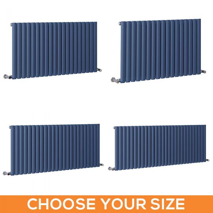 Milano Aruba - Dark Blue Horizontal Single Panel Designer Radiator - Various Sizes