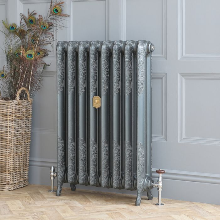 Milano Beatrix - Cast Iron Radiator - 950mm Tall - Antique Silver - Multiple Sizes Available