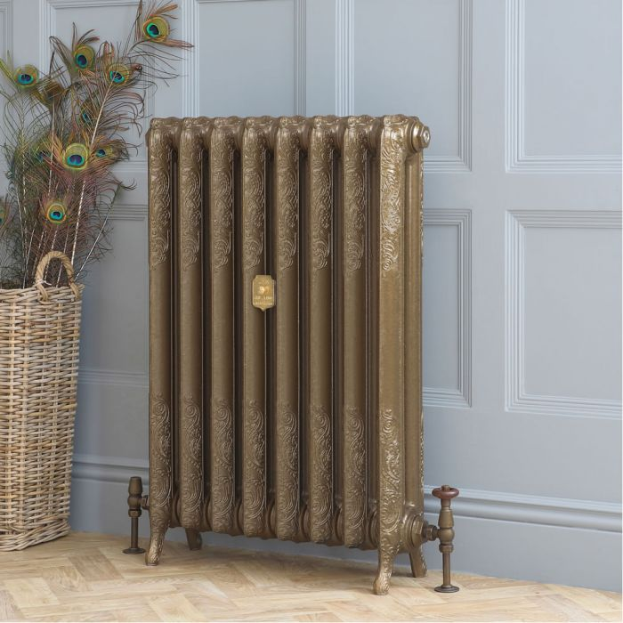 Milano Beatrix - Cast Iron Radiator - 510mm Tall - Burnt Gold - Multiple Sizes Available
