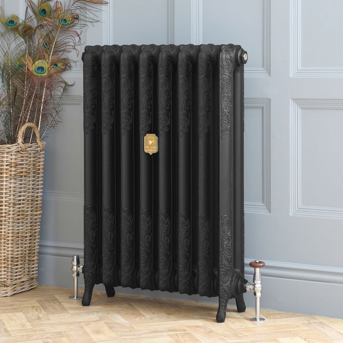 Milano Beatrix - Cast Iron Radiator - 950mm Tall - Slate Black - Multiple Sizes Available