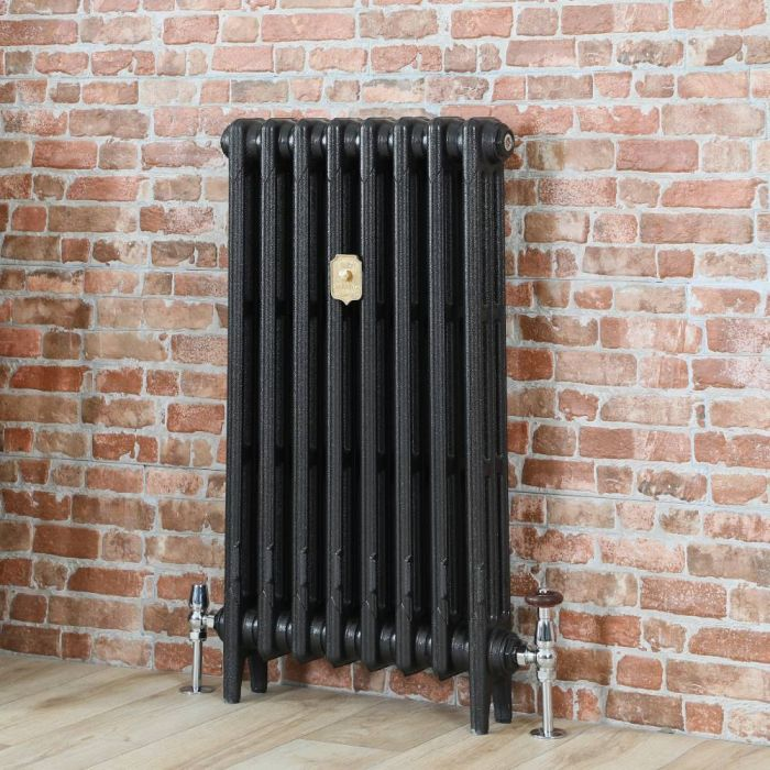 Milano Mercury - Cast Iron Radiator - 860mm Tall - Antique Graphite - Multiple Sizes Available
