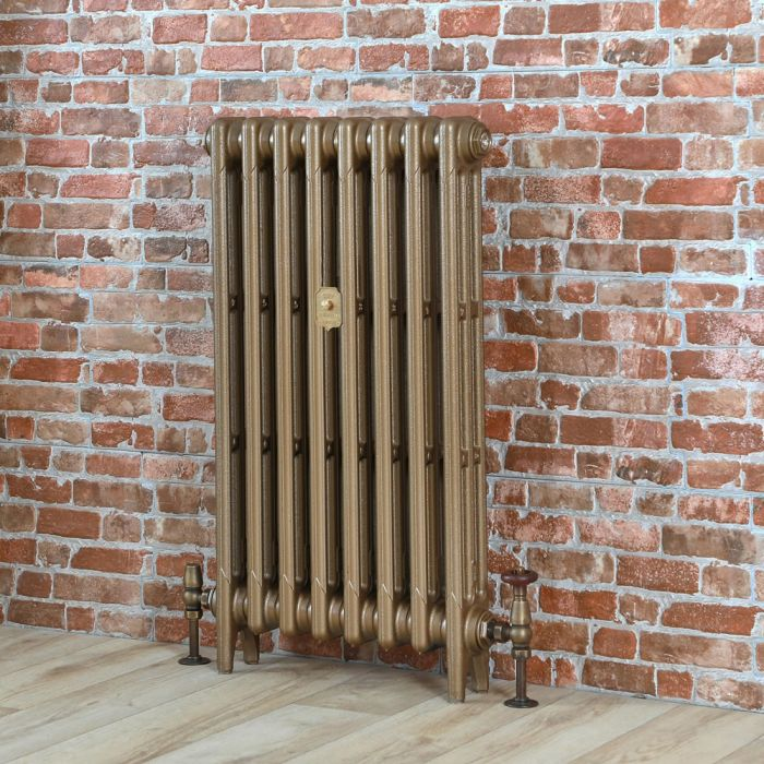 Milano Mercury - Cast Iron Radiator - 660mm Tall - Burnt Gold - Multiple Sizes Available