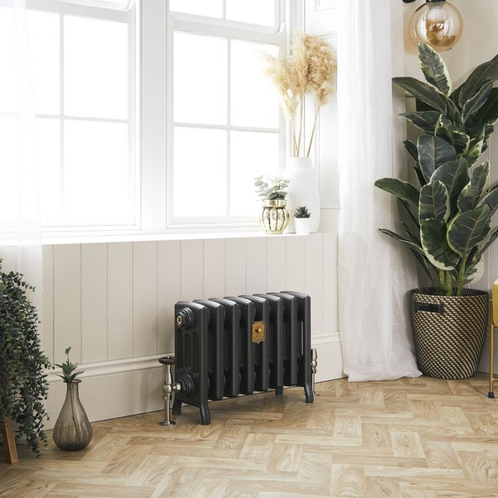 Milano Isabel - Cast Iron Radiator - 357mm Tall - Antique Silver - Multiple Sizes Available
