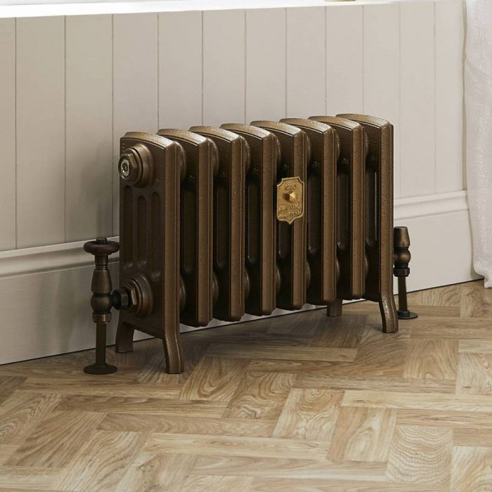 Milano Isabel - Cast Iron Radiator - 357mm Tall - Burnt Gold - Multiple Sizes Available