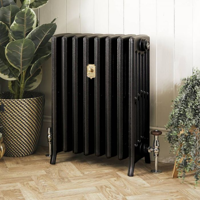 Milano Isabel - Cast Iron Radiator - 660mm Tall - Antique Graphite - Multiple Sizes Available