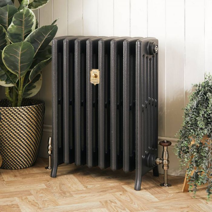 Milano Isabel - Cast Iron Radiator - 660mm Tall - Antique Silver - Multiple Sizes Available