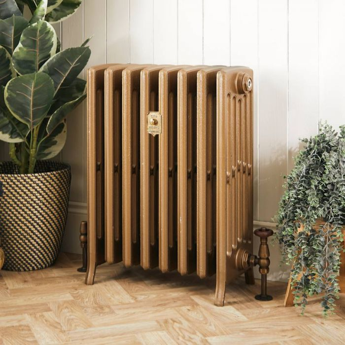 Milano Isabel - Cast Iron Radiator - 660mm Tall - Burnt Gold - Multiple Sizes Available