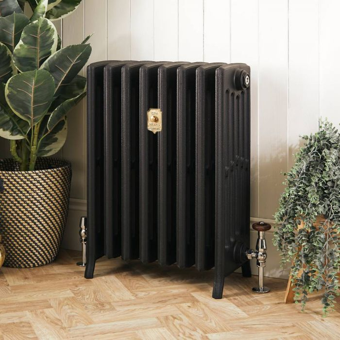 Milano Isabel - Cast Iron Radiator - 660mm Tall - Slate Black - Multiple Sizes Available