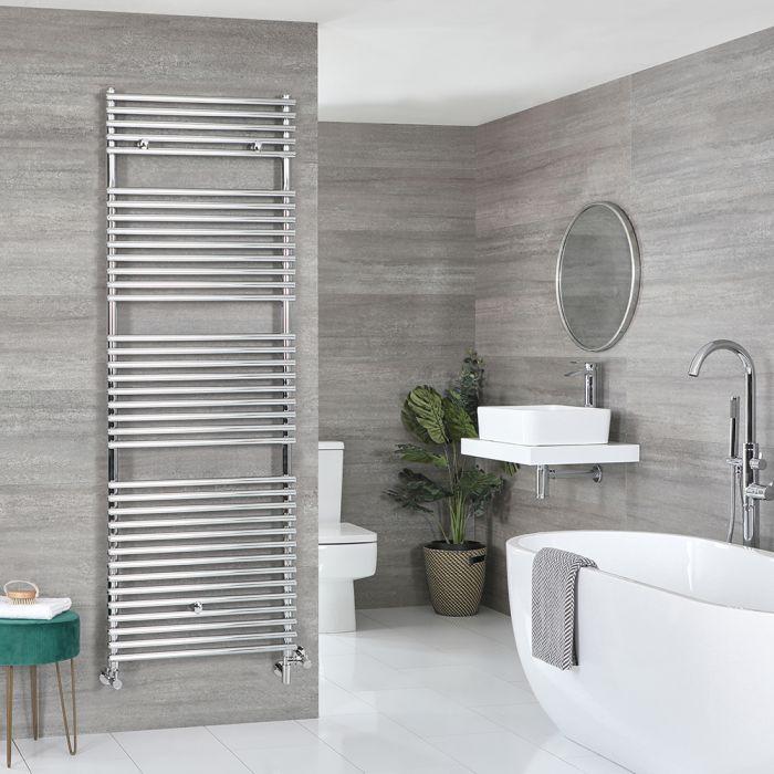 Milano Arno - Chrome Dual Fuel Bar on Bar Heated Towel Rail 1738mm x 450mm