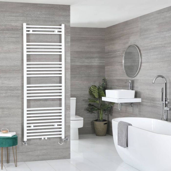 Milano Neva - White Dual Fuel Heated Towel Rail 1600mm x 500mm