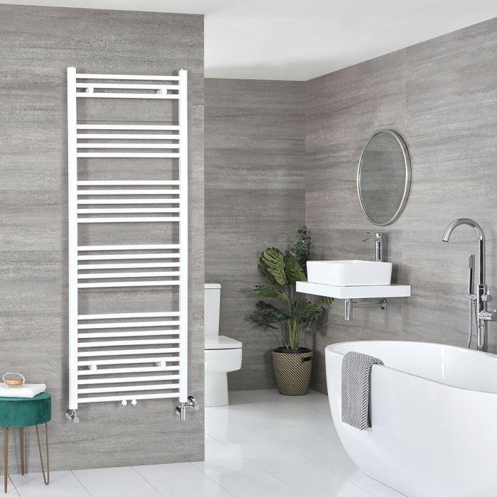 Milano Neva - White Dual Fuel Heated Towel Rail 1600mm x 600mm
