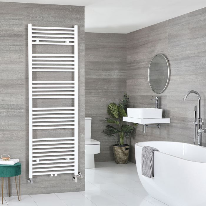 Milano Neva - White Dual Fuel Heated Towel Rail 1785mm x 600mm