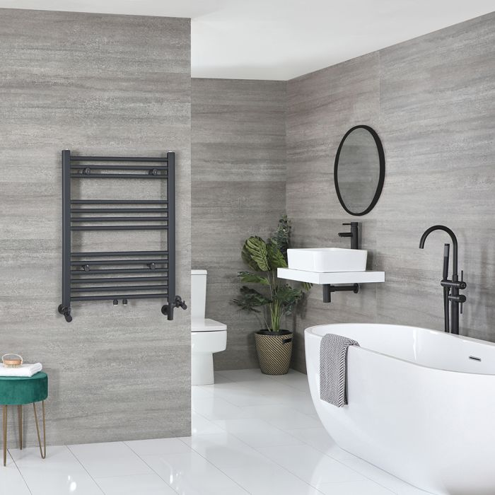 Milano Neva - AnthraciteDual Fuel Heated Towel Rail 803mm x 600mm