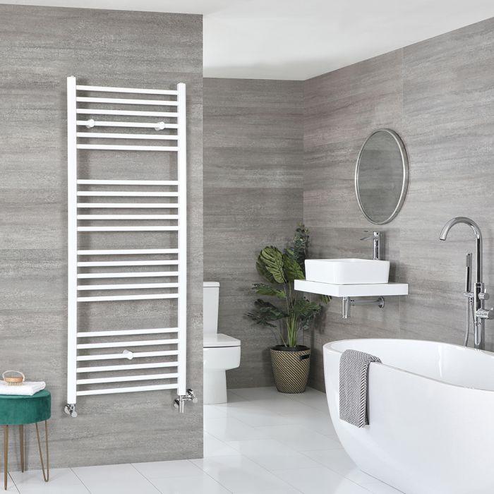 Milano Ive - White Dual Fuel Flat Heated Towel Rail 1600mm x 500mm