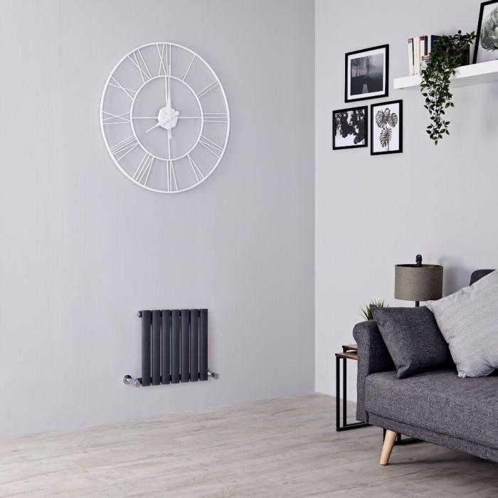 Milano Aruba - Anthracite Horizontal Designer Radiator 400mm x 413mm (Single Panel)