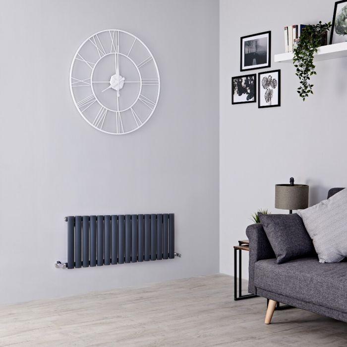 Milano Aruba - Anthracite Horizontal Designer Radiator 400mm x 1000mm (Single  Panel)