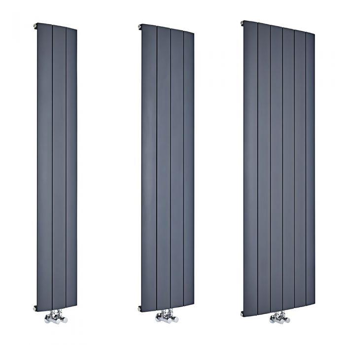Milano Skye - Anthracite Aluminium Vertical Designer Radiator - Various Sizes