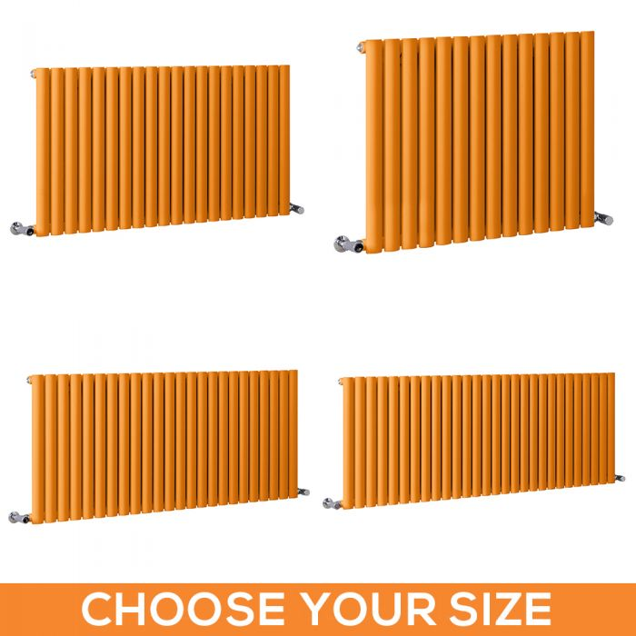 Milano Aruba - Orange Horizontal Single Panel Designer Radiator - Various Sizes