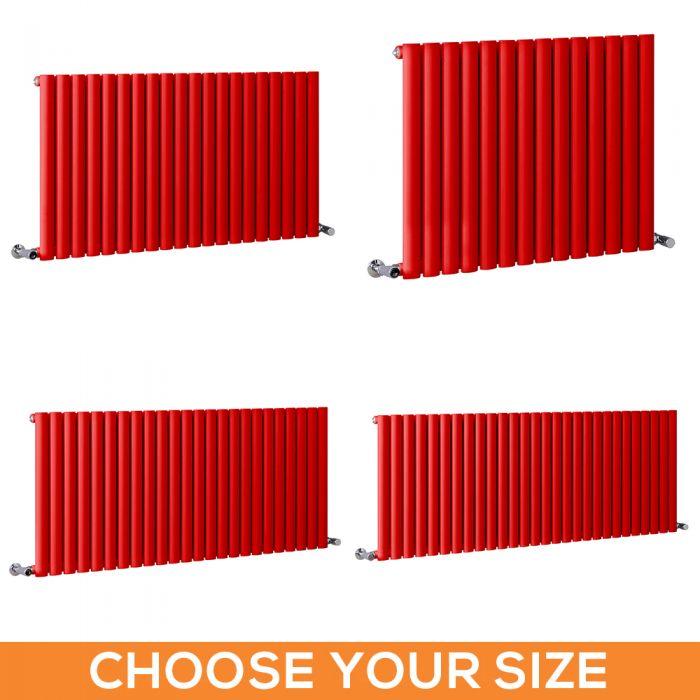 Milano Aruba - Red Horizontal Single Panel Designer Radiator - Various Sizes