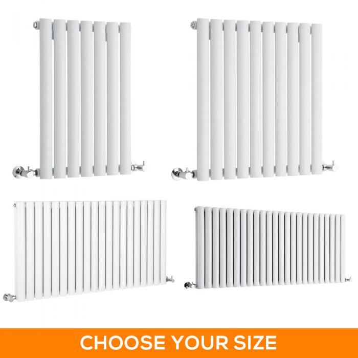 Milano Aruba - White Horizontal Designer Radiator - Various Sizes
