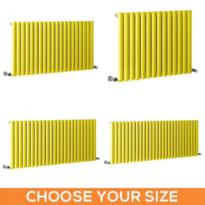 Milano Aruba - Yellow Horizontal Single Panel Designer Radiator - Various Sizes