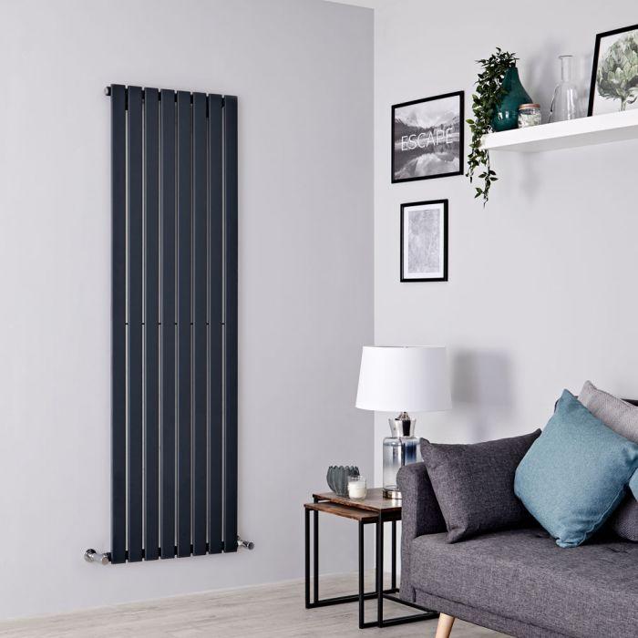 Milano Alpha - Anthracite Vertical Single Slim Panel Designer Radiator 1600mm x 560mm