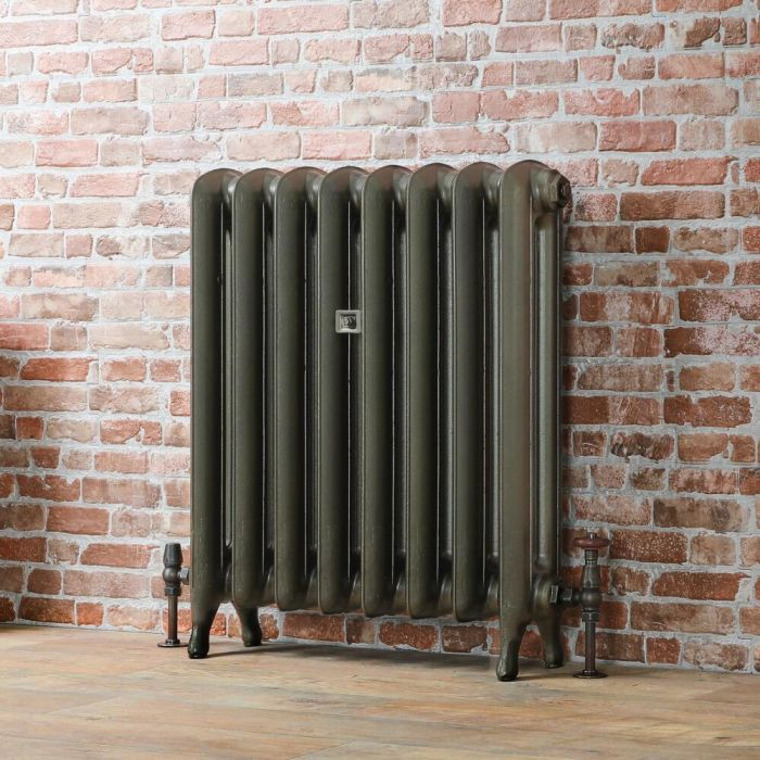 Milano Tamara - Oval Column Cast Iron Radiator - 760mm Tall - Antique Brass - Multiple Sizes Available