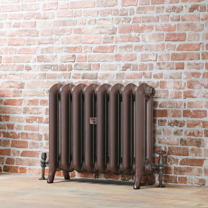 Milano Tamara - Oval Column Cast Iron Radiator - 560mm Tall - Antique Copper - Multiple Sizes Available